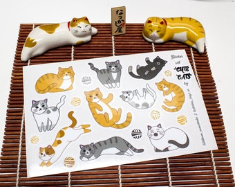 Set of CUTE CATS Vinyl stickers, Laptop stickers, Cat stickers, Kittens, Laminated, Not Paper Stickers