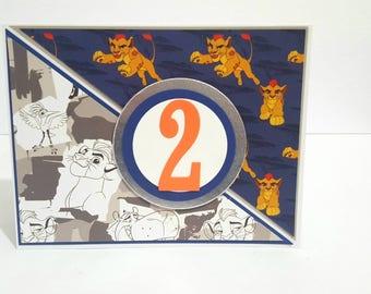 Lion Guard Birthday Card, Handmade Greeting Card, Lionguard