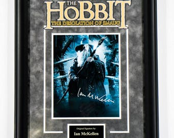 Hobbit - Signed by Ian McKellan - Framed Artist Series