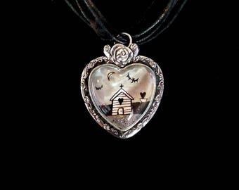 Goth beach pendant