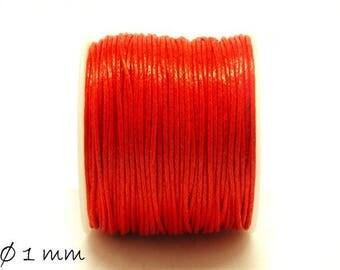 Designed, cotton string, red, Ø 1 mm