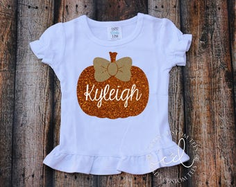 Girls Halloween Shirt - Pumpkin Shirt - Halloween Shirt - Girls Halloween Outfit - Halloween Tee - Pumpkin Patch Shirt
