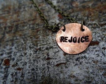 Rejoice copper necklace