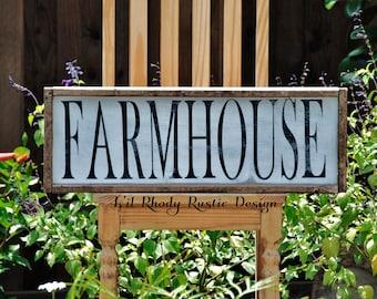 Farmhouse Sign, Farmhouse Decor, Farmhouse Kitchen, Farmhouse Signs, Wooden Sign, Custom Wood Sign, Framed Wood Sign