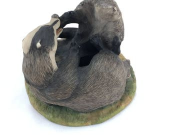Border Fine Arts 'Fighting Badgers'