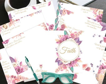 """Printable, Colored, """"Faith"""" Journal. Total of 16 pages! **Size is 5.5x8.5**"""