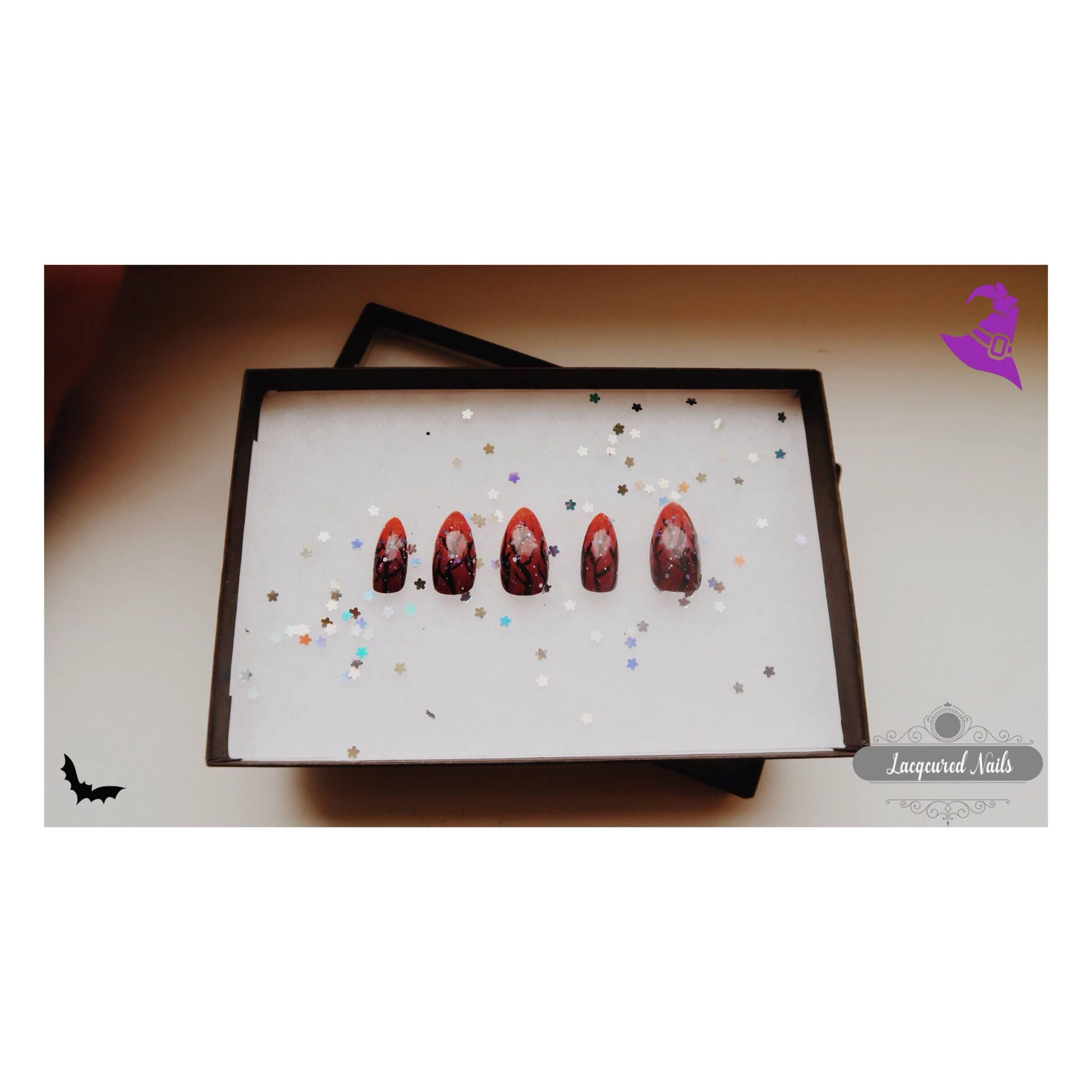 Halloween Spooky Nail Set False nails stiletto nails almond