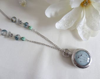 Necklace watch FOB/Watch Pocket Watch/watch/necklace dandelion/necklace pendant/watch quartz/gift for her fantasy/flower / gift