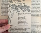 Recycled Mini Notepad with an Upcycled Vintage Children's Nursery Rhymes Book Cover