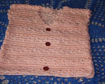 tank girl pink crocheted 9 months