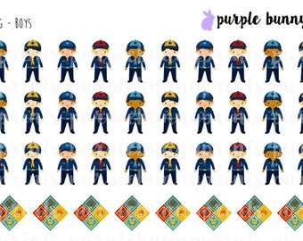Blue Scouting (Boys) // Planner Stickers!