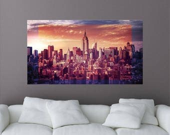 Empire State Building Removable Wall Mural, New York City, New York Wall  Decal,