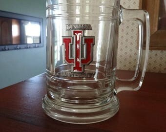 Indiana University - Hoosiers Clear Glass Beer Mug Alumni Graduation Bloomington