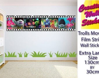 Trolls Movie wall art sticker Children's Bedroom xx Large decal wall art.