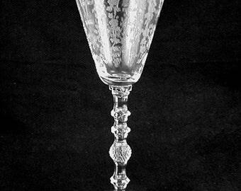 Elegant Cambridge Glass DIANE Etched CLARET Goblet (s)- No.3122