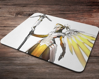 Hot Mercy Overwatch Mouse Pad overwatch mousepad home decor overwatch accessories overwatch champion