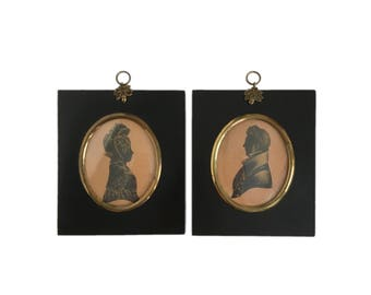Pair of Early 19th Century English Silhouettes