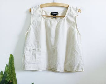 Vintage Linen Cropped Tank
