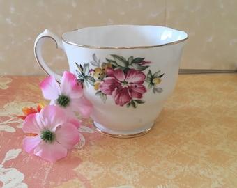 Queen Anne Fine Bone China Tea Cup Azalea Made in England