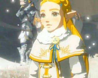 The legend of zelda breath of the wild cosplay Zalda winter outfit costume