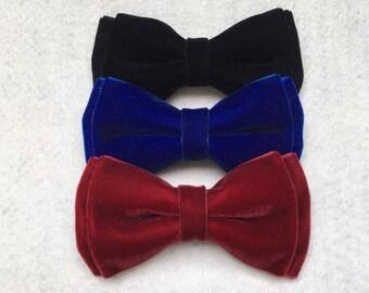 Velvet Bow Tie • Dog Bows • Cat Bows • Rabbit Bow • Bow Collar • Pet Bow Collar •