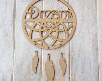 MDF Dream Catcher ready to decorate, choose your hanging shapes Geo DREAM