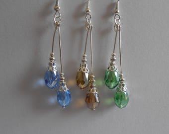 Handmade Crystal drop Earrings