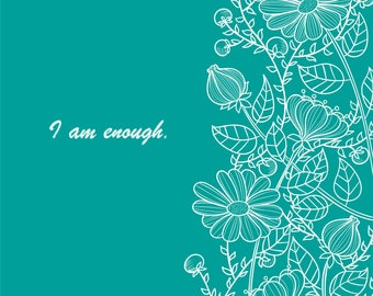 I am enough Cross Stitch Pattern