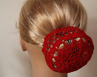 Covers bun, red, boho Chic