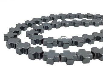 8mm/10mm/12mm Hematite Cross Beads,Hematite Beads For Jewelry Making