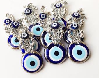 Nazar boncuk, evil eye wall hanging, silver macrame wall hanging, evil eye home decor, evil eye macrame, turkish evil eye, evil eye beads