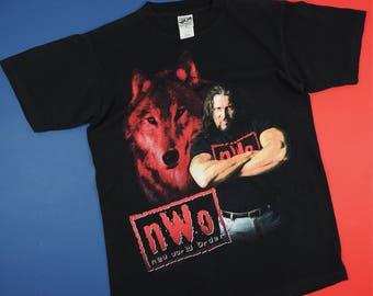 Vintage 1998 NWO New World Order wrestlinf Tshirt Black M