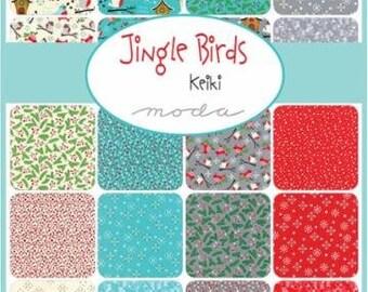 Jingle Birds by Keiki Christmas Jelly Roll Clearance