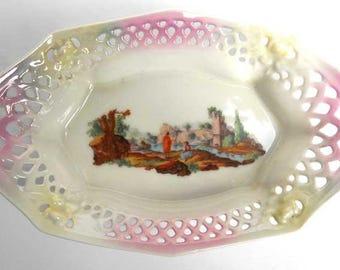 Pierced Sweet Dish Arzberg Bavaria Vintage
