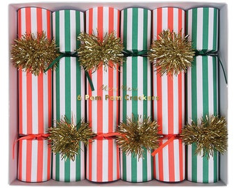 Christmas crackers etsy party crackers red and green christmas crackers christmas decor party favors solutioingenieria Gallery