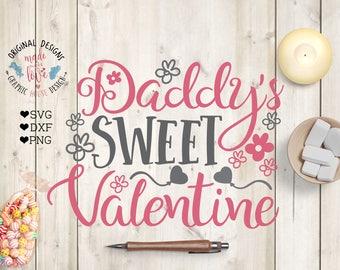 Daddy's valentine svg, Daddy's sweet Valentine Cut File in SVG, DXF, PNG, Valentine svg files, Valentine svg design, Valentine baby svg,
