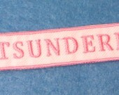 Cute DIY Punk Anime Pink and White Tsundere Patch