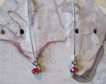 large red rhinestone earrings
