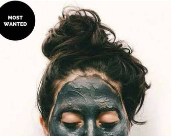Activated Charcoal Facial Mask ALCOME.Co  Sample Tin  Pre-mixed Detox Mask, Facial Mask for Acne