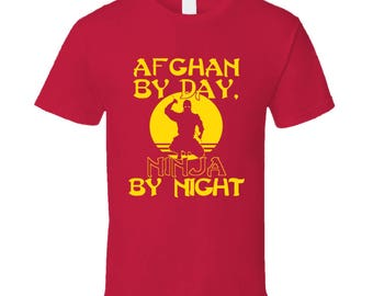 Red Afghan By Day Tee Shirt