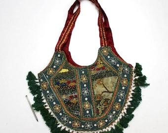 Handmade Ethnic Designer Tribal Banjara Patchwork Embroidered Hippy Fashionable Stylish Trendy Hippie Gypsy Boho Bohemian Shopper Bag F169
