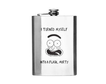 Rick and Morty Flask-Rick Designer Flask