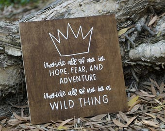 Wild Thing wood sign