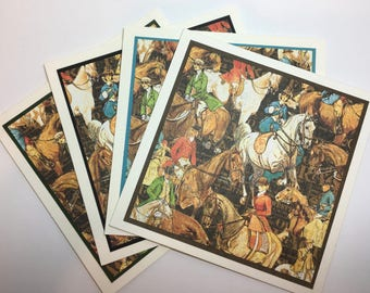 Set of Cards, Fox Hunting Cards, Equestrian Cards, Horse Cards