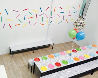 Set 60 Sprinkles Wall Decals, Confetti Sprinkles Wall Stickers, Removable Sprinkles Stickers, Sprinkles room decor, Nursery wall stickers