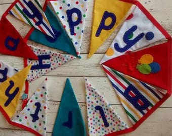 Happy Birthday bunting, bunting for children, Happy Birthday garland, birthday bunting for children, celebration bunting, party bunting