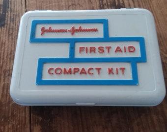 Vintage Johnson & Johnson First Aid Compact Kit