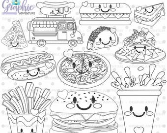 Food coloring pages Etsy