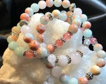 Aqua Terra Jasper Woman's Gemstone Bracelet