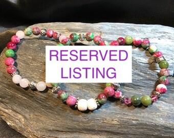 RESERVED ~ Cherry Blossom Jasper Woman's Modern Bracelet